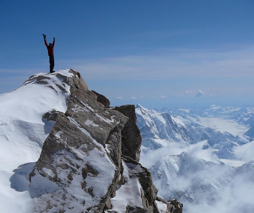 Success Top of Mountain